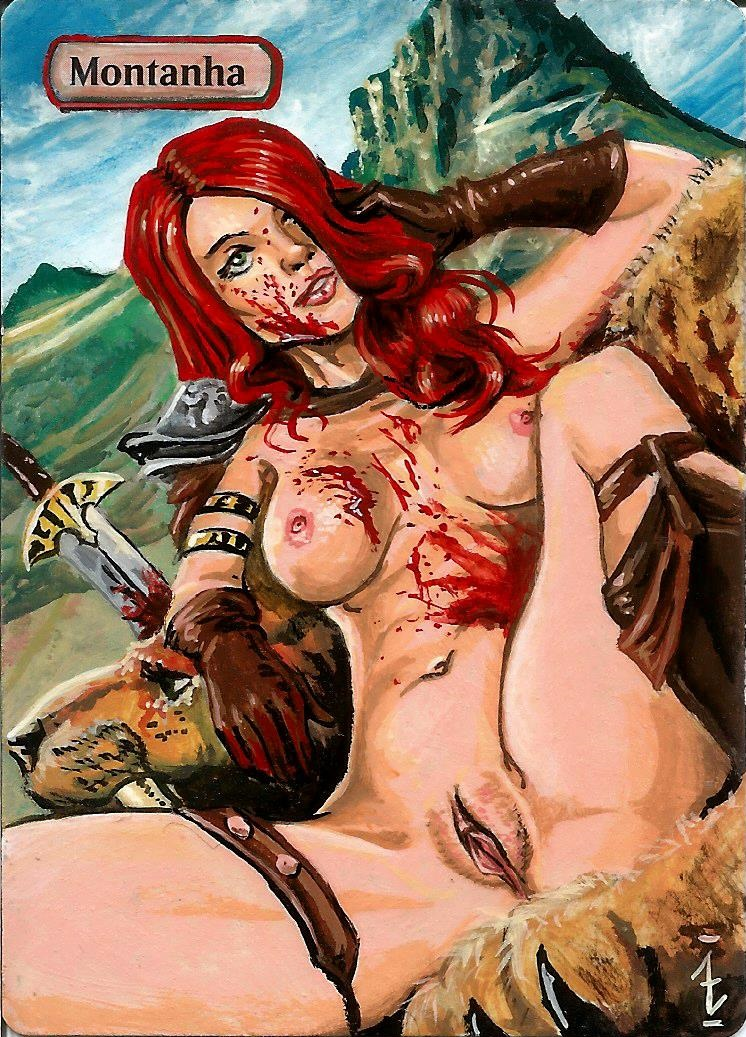 sonja red red monika vs Nude beauty and the beast